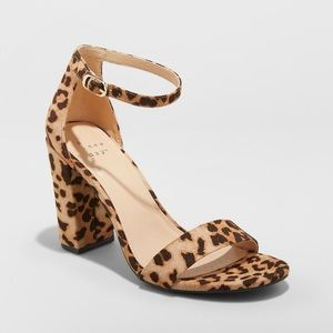 a new day | Ema leopard block heel shoes